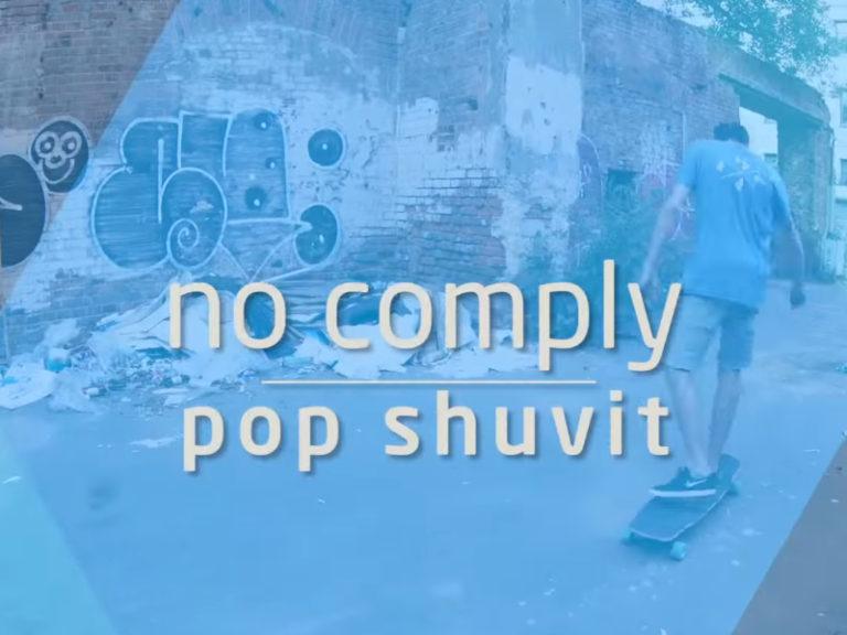 Как делать no comply pop shuvit на лонгборде. Видео урок.