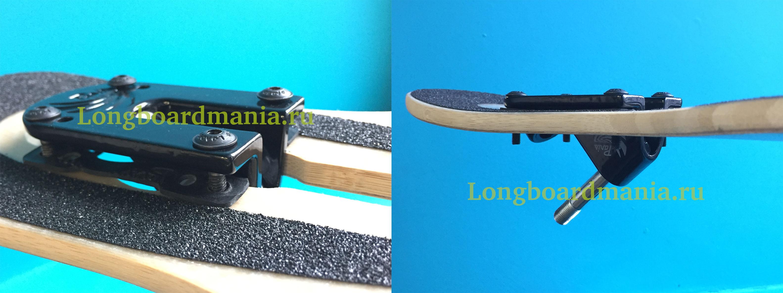 Как поставить подвеску на лонгборд